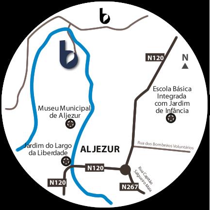 Mapa do Hotspot Várzeas de Aljezur