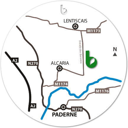 Mapa do Hotspot Paderne Norte